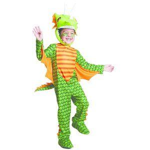 Tod Boys Green Dragon Costume 18/24Mo 2T/3T NWT
